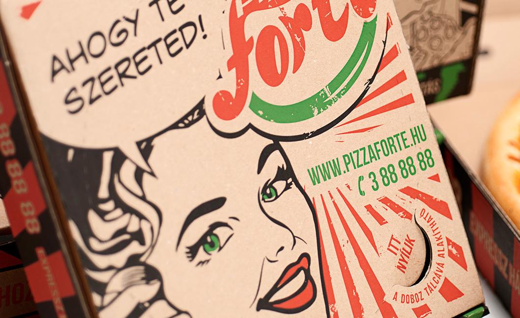 Graphasel Design Studio - Pizza Forte csomagolás - Csomagolás Print
