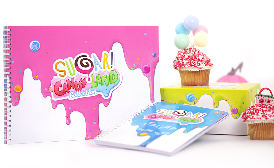 Graphasel Design Studio - Sugar! CandyLand kollekció - Arculat Csomagolás Print